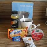 frukost på hotellet...