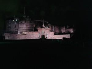 Slottet är också fint belyst